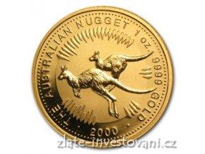 5258 investicni zlata mince australsky klokan 2000 nugget 1 oz