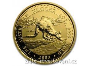 5261 investicni zlata mince australsky klokan 2003 nugget 1 oz