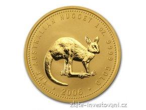 5264 investicni zlata mince australsky klokan 2006 nugget 1 oz