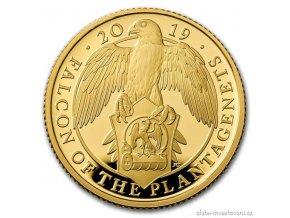 5318 zlata mince sokol kralovny anglie 2019 heraldicka serie 1 4 oz