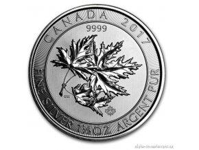 5333 investicni stribrna mince super leaf 2017 1 5 oz