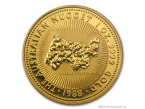5351 investicni zlata mince australsky klokan 1988 1 oz