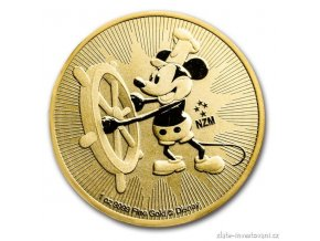 5363 zlata mince mysak mickey steamboat willie novy zeland 2017 1 oz