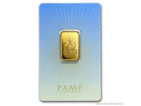 Investiční zlatý slitek Lakšmí-PAMP 10g