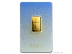 Investiční zlatý slitek románský kříž-PAMP 10g