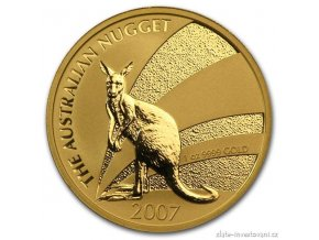 5405 investicni zlata mince australsky klokan 2007 nugget 1 oz