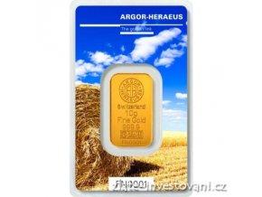 Investiční zlatý slitek Argor Heraeus-Léto 2017 limitovaná edice 10g