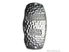 Stříbrný  investiční kovaný slitek Tombstone-Scottsdale 1 Kg