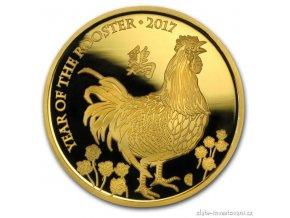 5477 investicni zlata mince lunarni rok kohouta 2017 british royal mint proof 1 oz