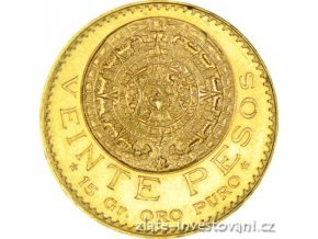 5489 zlata mince azteca 20 pesos