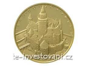 5492 zlata mince hrad bouzov 2017 proof 1 2 oz