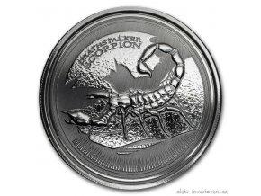 Investiční stříbrná mince Škorpion 2017-Čad 1 Oz