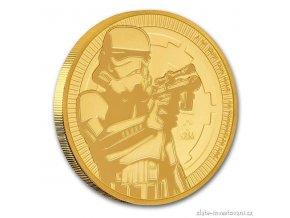5519 investicni zlata mince stormtrooper star wars 2018 1 oz