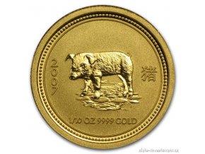 5543 investicni zlata mince rok vepre 2007 1 10 oz