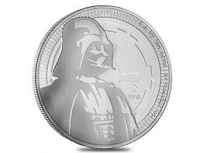 Investiční stříbrná mince Darth Vader-Star Wars 2017 1 Oz