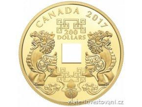5594 zlata mince feng shui mince stesti 2017 proof