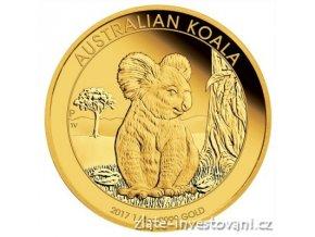 5600 investicni zlata mince australska koala proof 2017 1 4 oz