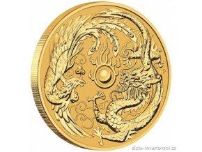 5618 investicni zlata mince drak a fenix 2018 australie 1 oz