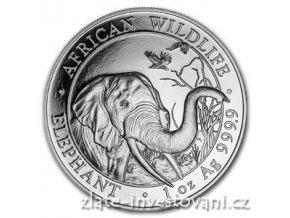 Investiční stříbrná mince somálský slon 2018 1 Oz