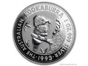 5723 investicni stribrna mince kookaburra 1993 1 oz
