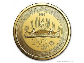 Zlatá mince Voyageur 2017-Canada 150. výročí 1 Oz