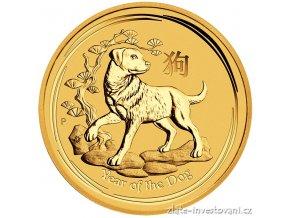 5744 investicni zlata mince rok psa 2018 1 2 oz
