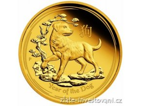 5756 investicni zlata mince rok psa 2018 lunarni serie ii proof 1 4 oz