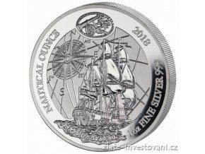 5825 stribrna mince rok endevour 2018 rwanda 1 oz