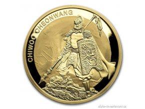 Investiční zlatá mince Chiwoo Cheonwang 2016-Jižní Korea 1 Oz