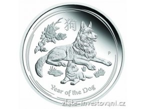 5837 investicni stribrna mince rok psa 2018 lunarni serie ii proof 1 oz