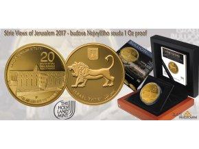 Zlatá mince Nejvyšší soud-série Views of Jerusalem 2017 1 Oz
