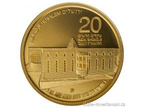 5855 zlata mince nejvyssi soud serie views of jerusalem 2017 1 oz