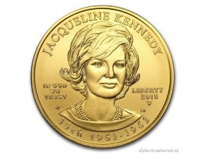 Zlatá mince Jacqueline Kennedy 2015-série První  dámy USA 1/2 Oz
