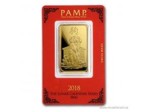 Investiční zlatý slitek PAMP Rok psa 2018 1 Oz