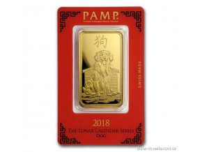 5909 investicni zlata cihla pamp rok psa 2018 100g