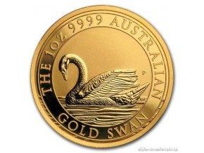 5921 zlata investicni mince australska labut perth mint 2017