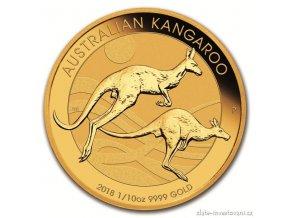 5930 investicni zlata mince australsky klokan nugget 2018 1 10 oz