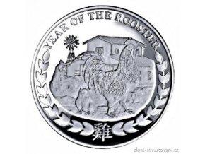 5960 stribrna mince rok kohouta 2017 somalsko 1 oz