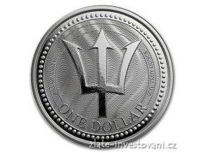 5966 investicni stribrna mince trojzubec 2017 barbados 1 oz