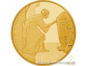 5972 investicni zlata mince leia organa star wars 2016 proof 1 oz