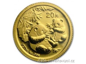 5975 investicni zlata mince cinska panda 2006 1 20 oz