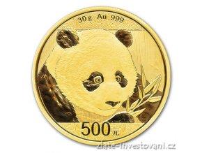 5987 investicni zlata mince cinska panda 2018 30g