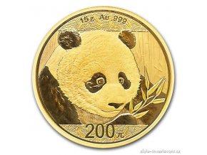 5993 investicni zlata mince cinska panda 2018 15g