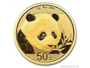 6008 investicni zlata mince cinska panda 2018 3g