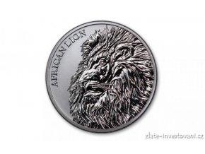 Investiční stříbrná mince Lev africký  2018-Čad  1 Oz