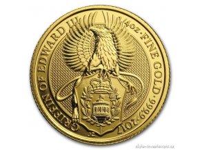 6056 investicni zlata mince griffin kralovny anglie 2017 1 4 oz