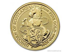 6059 investicni zlata mince jednorozec kralovny anglie 2018 heraldicka serie 1 oz
