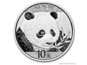 6068 investicni stribrna mince panda 2018 30g