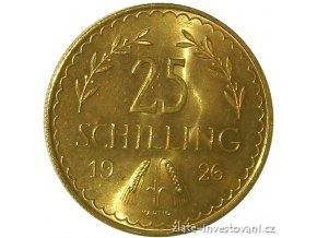 Zlatá mince rakouských 25  šilinků-1929