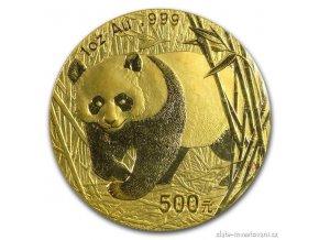 6083 investicni zlata mince cinska panda 2002 1 oz